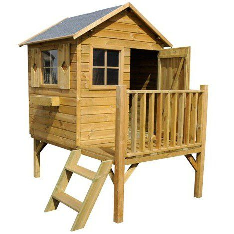 Cabane en bois on pinterest pallet kids montages and for Cabane de jardin en bois leroy merlin